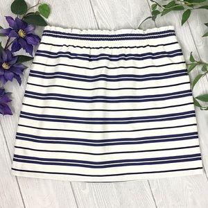 NWT J Crew Striped Sidewalk Mini Skirt